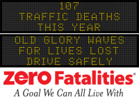 Message Monday - Old Glory waves for lives lost - drive safely