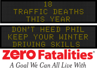 Message Monday-  Don't heed Phil. Keep your winter driving skills