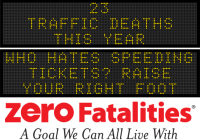 Message Monday - Who hates speeding tickets? Raise your right foot