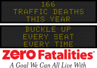 Message Monday - Buckle up - every seat, every time