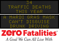 Message Monday - A Mardi Gras mask can't disguise drunk driving