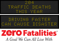 Message Monday - Driving faster can cause disaster