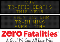 Message Monday - Train vs car? Train wins every time