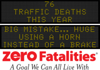 Message Monday - Big mistake...huge... using a horn instead of a brake