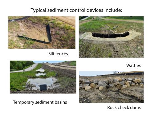 Sediment control devices