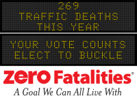 Message Monday - Your vote counts. Elect to buckle.