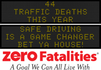 Message Monday - Safe driving is a game changer - bet ya house!