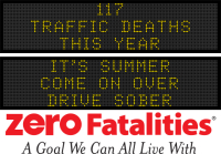 Message Monday - It's summer. Come on over. Driver sober.