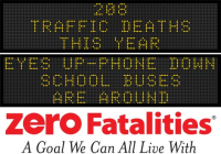 Roadside Chat -  Eyes up - phone down, school buses are around