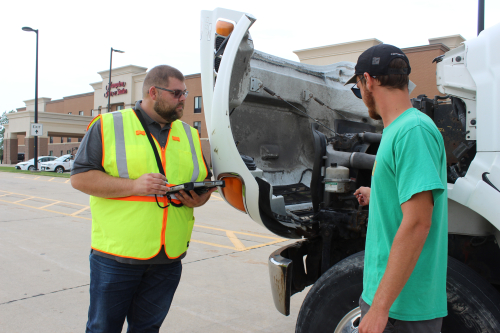 Marcus training a CDL instructor