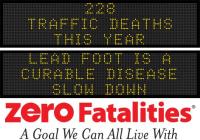 Roadside chat - Lead foot is a curable disease. Slow down