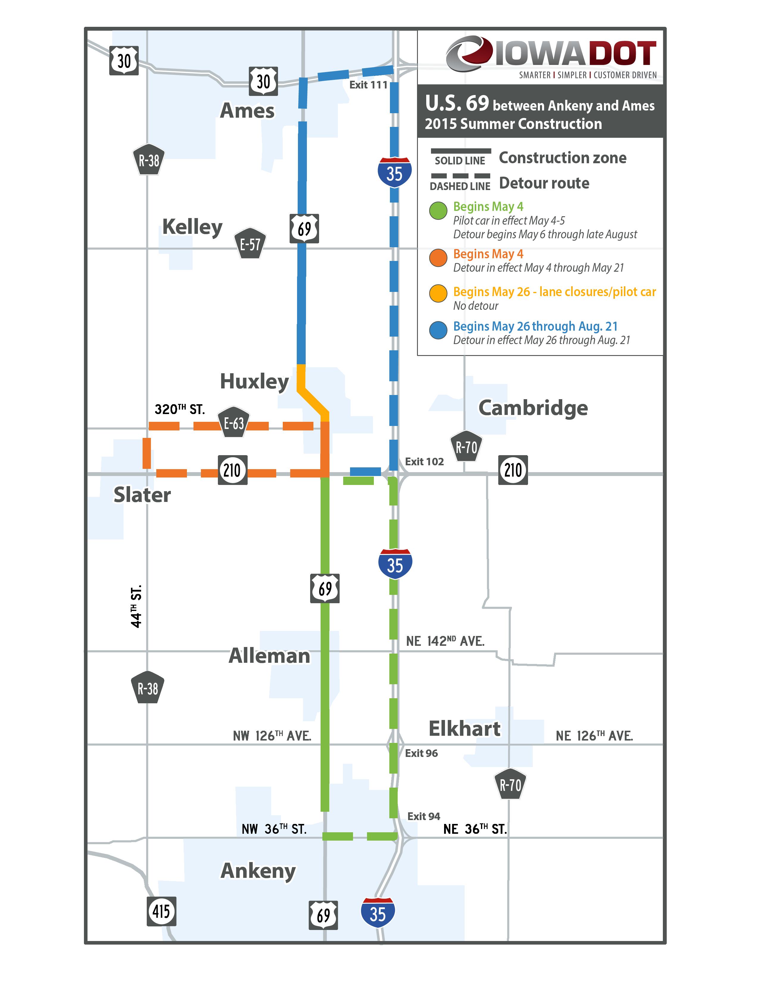 Iowa Department Of Transportation - Iowa road map